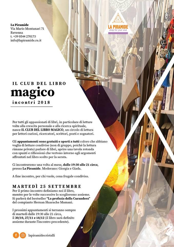 Eventi Club del Libro Magico da settembre a dicembre 2018