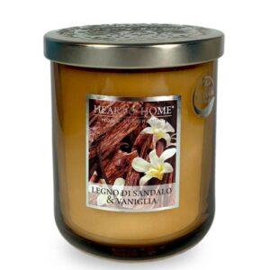 Candela in cera di soia - Legno di Sandalo & Vaniglia