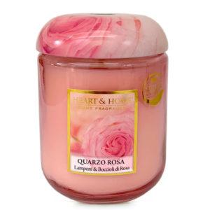 Candela in cera di soia - Quarzo Rosa