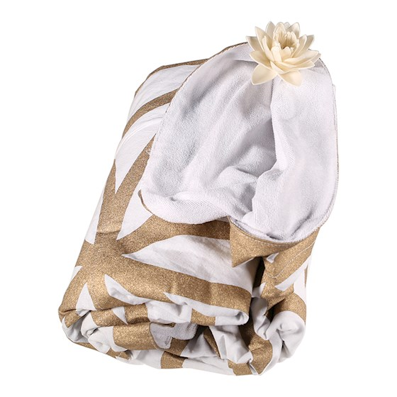 Telo Fiore della Vita color bianco e Oro