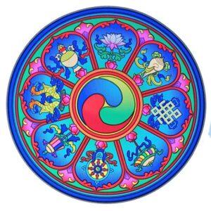 Adesivo 8 simboli di buon auspicio