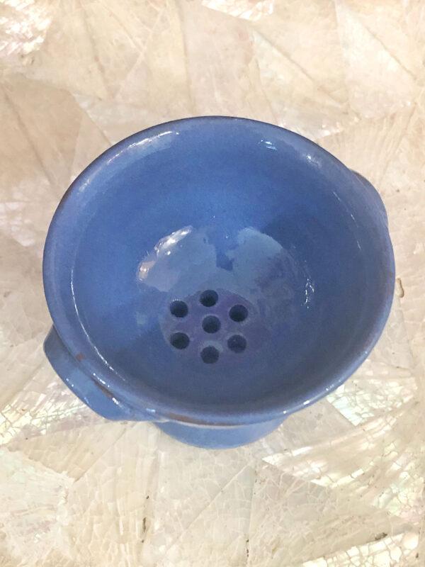 Braciere Ceramica Smaltata Blu vista alto