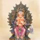 Buddha Maitreya dipinto a mano