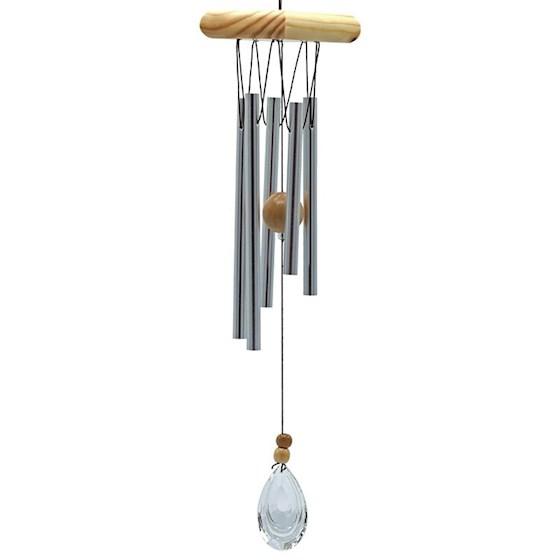Campana a vento 5 tubi con cristallo