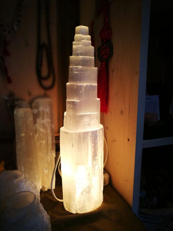 Lampada in Selenite