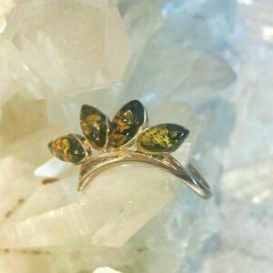anello Ambra Fiore