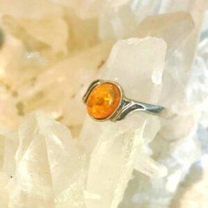 anello Ambra Ovale