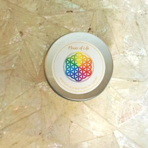 Flower of Life tin Candle