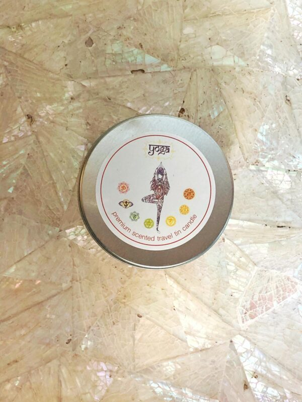 Yoga tin Candle
