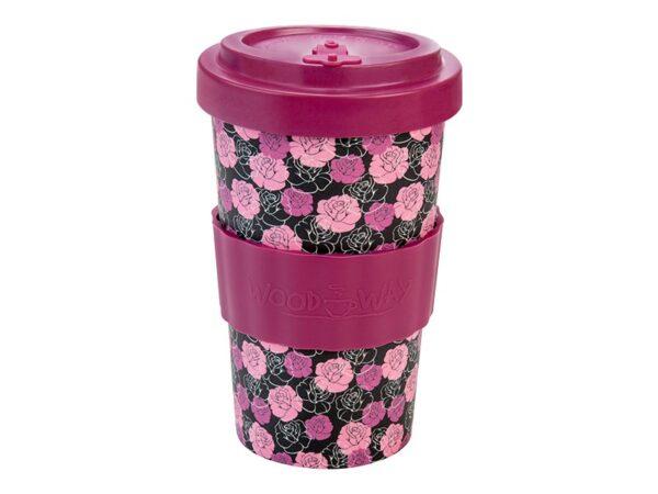 Bamboo Cup Rose 500ml con fascia