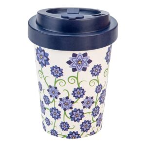 Bamboo Cup fiori blu