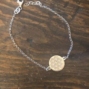 Bracciale in argento 925 Fiore della Vita