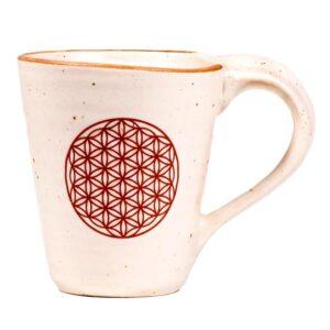 Tazza ceramica Fiore della Vita