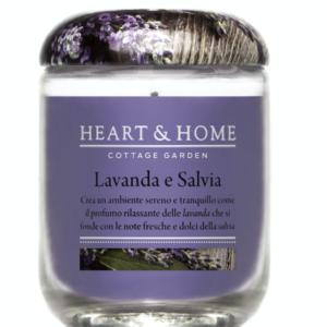 Candela in cera di soia - Lavanda e Salvia
