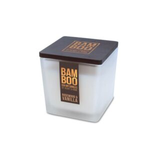 Candela Bamboo in cera di soia - Rosewood & Vanilla