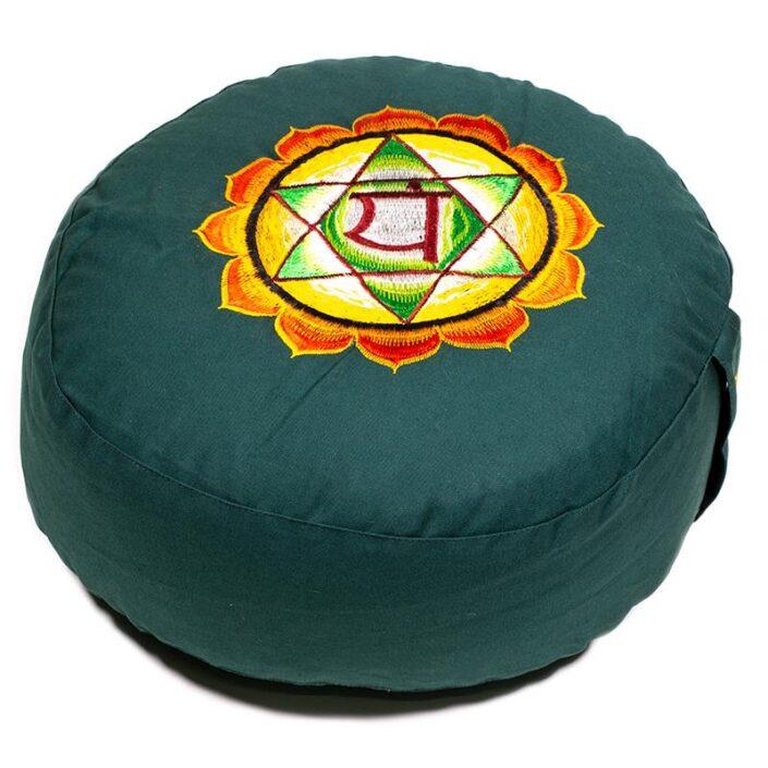 Cuscino da Meditazione 4° chakra mandala colorato