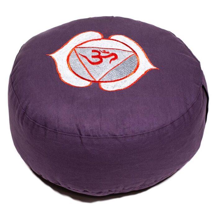 Cuscino da Meditazione 6° chakra mandala colorato
