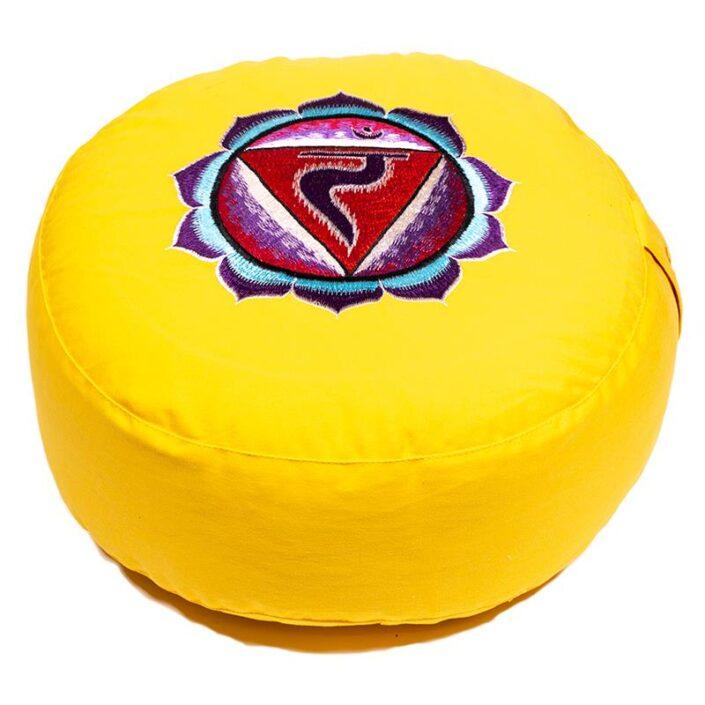 Cuscino Meditazione Manipura 3° chakra mandala colorato