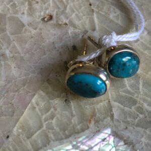 Orecchini in Turchese dal taglio ovale su argento 925