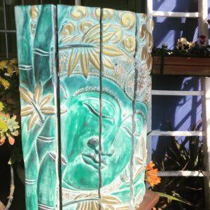 Pannello Buddha Verde Oro 39 x 59