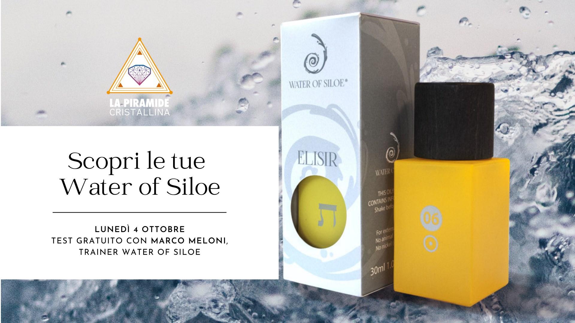 Scopri le tue Water of Siloe: test gratuiti con Marco